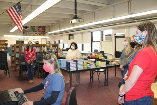 Watching the announcement at Fair Lawn's Henry B. Milnes Elementary School on Thursday.
