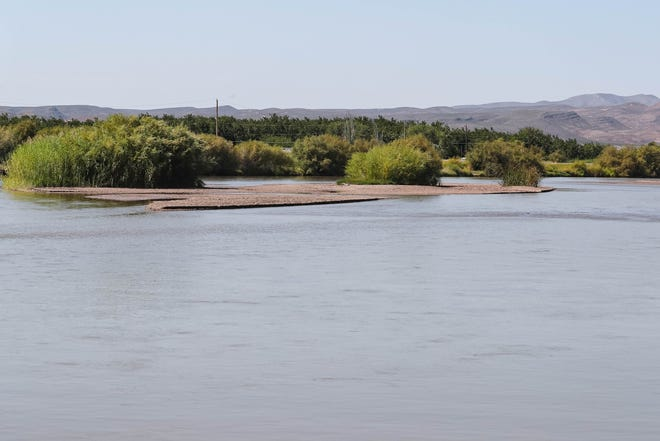 Sand bars appear in the middle of the Rio Grande near La Llorona Park in Las Cruces on Friday, Sept. 25, 2020. State officials reported this week that every water reservoir in New Mexico is far below historical averages. The largest — Elephant Butte — is at 4% capacity.