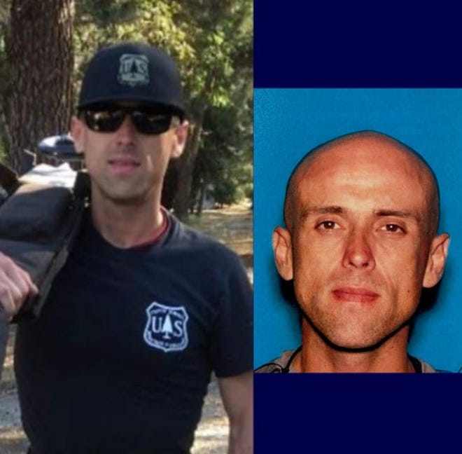Carlos Alexander Baltazar, 35, was reported missing and last seen on Sunday. The firefighter was off-duty at the time and not in the area of the El Dorado Fire, authorities said.
