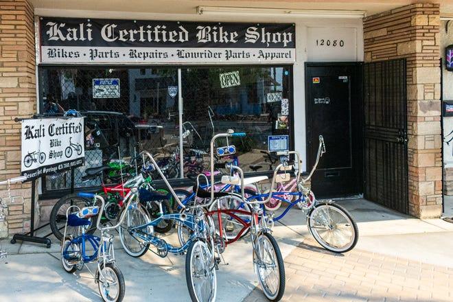 Bikes sitting outside Kali Certified Bike Shop in Desert Hot Springs, Calif. on September 18, 2020.