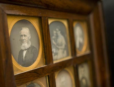 An 1850s daguerreotype photograph from photographer Jeremiah Gurney from the collection of Jeremy Rowe Vintage Photography at Rowe's home in Mesa, taken July 19, 2010.