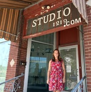 Carol Hall, entrepreneur and owner of The Hallway Entertainment, poses for a photo outside the former Art Studio 1219 building in downtown Port Huron on Sept. 24, 2020. Hall is reimagining and reinventing the space, renaming it Foundry.