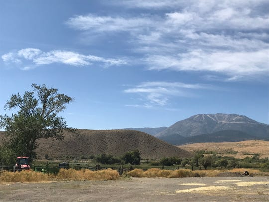 A view from the eastern edge of the planned Sierra Reflections community, near Pagni Lane in far South Reno, west toward Mount Rose.