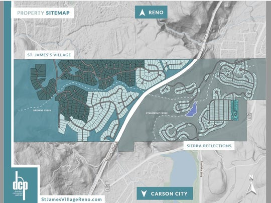 The tract of land in far South Reno for sale for $50 million has been approved for nearly 1,200 residential units.