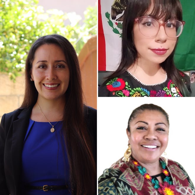 Clockwise from top right: Karla Alejandra Ramirez, Carolina Gallardo Magaña and Vianey Lopez