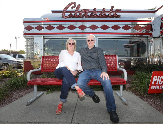 Kevin and Paula Coveney own a pair of Denny's Restaurants, including the classically styled stainless steel diner in Zanesville.