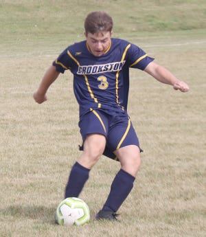 Jacob Miller takes a free kick against Fargo North on Sept. 26. Miller had his first goal of the season at Hillcrest Lutheran on Tuesday.