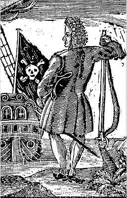 A historical etching of Stede Bonnet, known as the Gentleman Pirate, as he looks out over his ship, the Royal James. [FILE PHOTO]