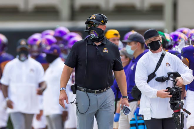 East Carolina coach Mike Houston. (Photo courtesy of ECU athletics)