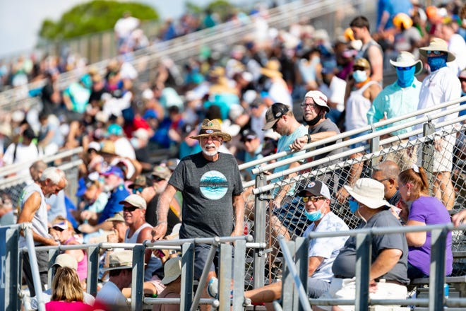 A NHRA fan looks on during the AMALIE Motor Oil NHRA Gatornationals at the Gainesville Raceway on Saturday. [Matt Pendleton/Special to the Sun]