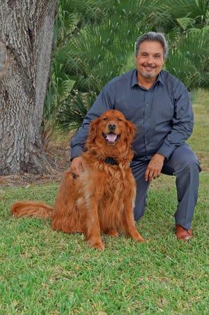 """Ron Aylward and his diabetes-sensing dog, Hunter, will take part in the One Senior Place five-part series, """"Your Diabetic Health,"""" which starts Oct. 7."""