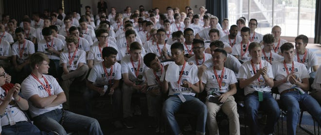Participants in Texas Boys State, which the film is based off of, engage in a week of mock elections and bill deliberation.