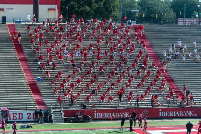 The UL band played at Cajun Field when the Ragin' Cajuns beat Georgia Southern in September.