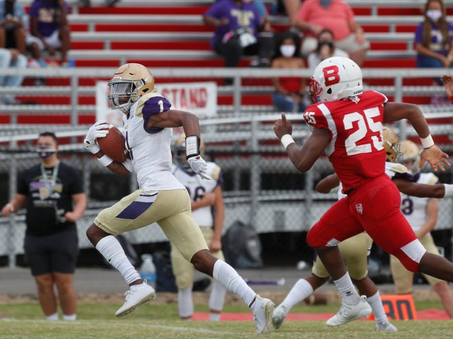 In the first three games of the season, Vinny Anthony has caught 11 catches for 240 yards and three touchdowns.