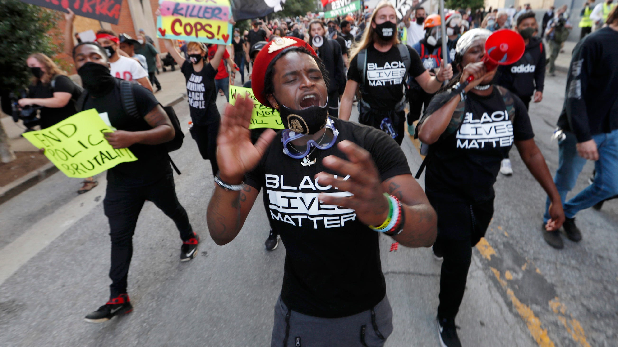 Hundreds march in Louisville; Raleigh arrests