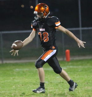 Lucas' Aiden Culler brings back one of the best kicking legs in Richland County football in 2021.