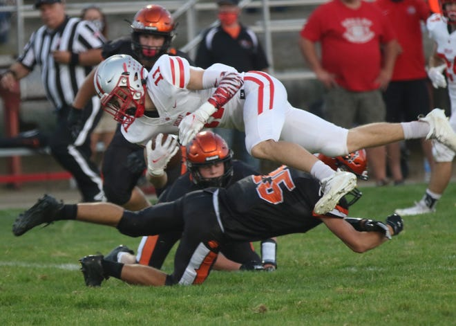Shelby's Cody Lantz helped the Whippets top Lucas and earn the No. 1 spot in the Richland County Football Power Poll.