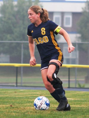Cassie Johnson contributed a PK goal to Elco's L-L semifinal rout of Manheim Central Monday night