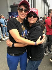 Leticia Nieves of Westchester, New York, and her fiancée, Anna Manganello of Long Island, have been Trump supporters since 2016. They fact check everything they read, they say.