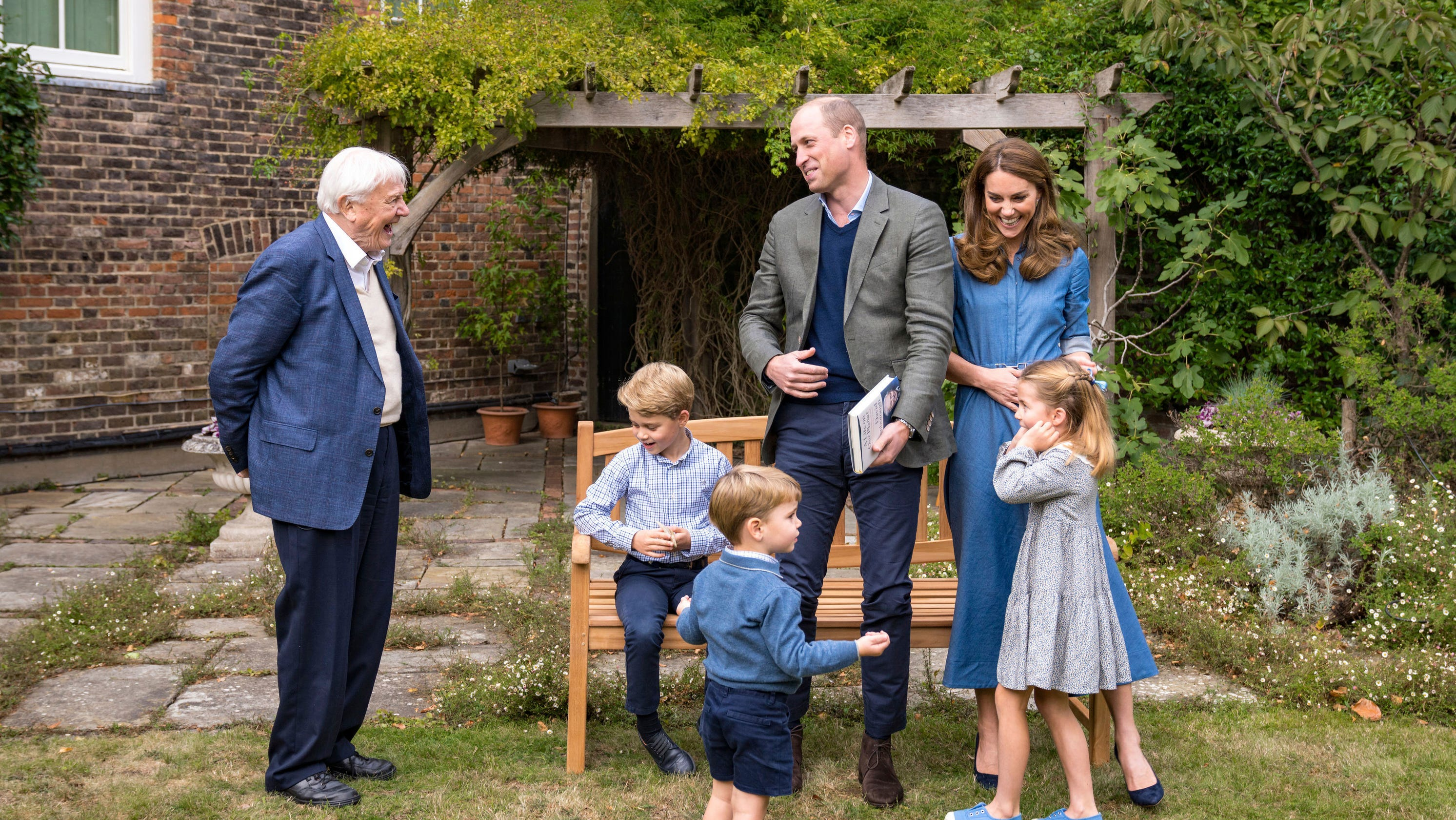 Prince William Duchess Kate share new photos of their family with Sir David Attenborough – USA TODAY