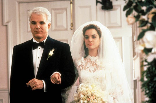 "Steve Martin played the father, George, of Kimberly Williams-Paisley's Annie in 1991 film ""Father of the Bride."""