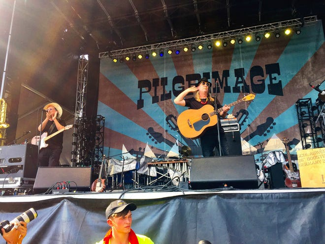 1980s folk punk band Violent Femmes perform at the second annual Pilgrimage Music and Culture Festival in Franklin in 2016. (Staff photo by Jay Powell)