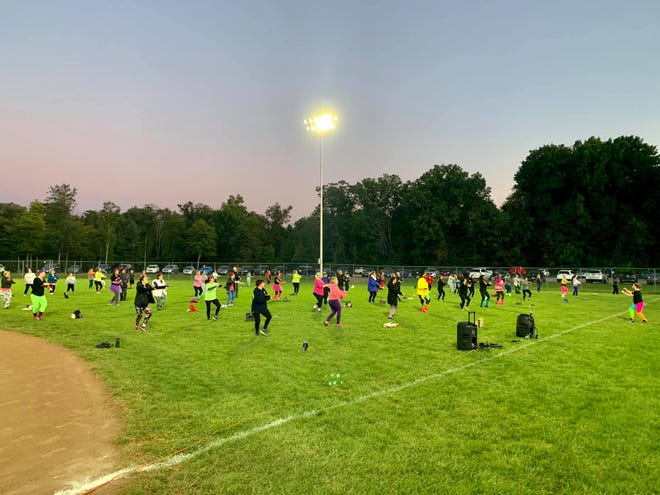 While COVID-19 has has made it hard to conduct most events involving large numbers of people, the Macedonia Parks and Recreation Department was able to host a socially distanced Zumba Night Sept. 19 on the baseball field in Longwood Park.