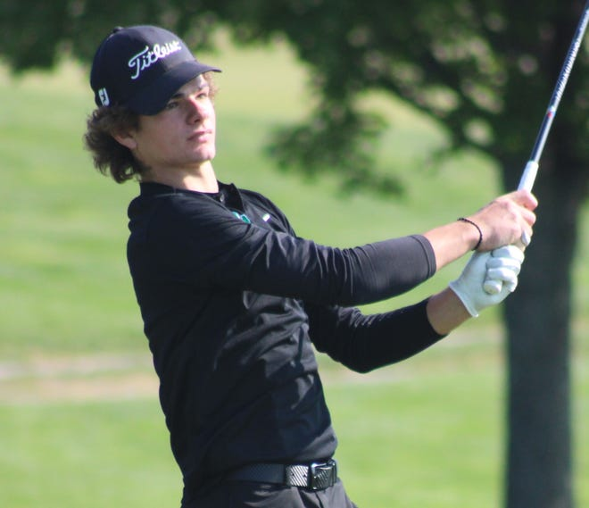 Cory Gasaway of Mogadore was the individual medalist at the Portage Trail Conference golf tournament.