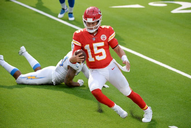 Quarterback Patrick Mahomes leads the Kansas City Chiefs into Monday night's game against the Baltimore Ravens.