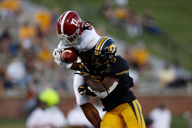 9/26/20 MFB Alabama vs MissouriAlabama wide receiver Jaylen Waddle (17)Photo by Kent Gidley