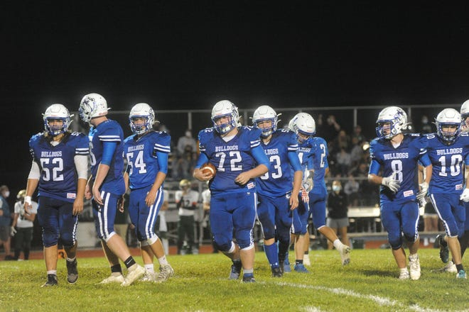 Crestline gets ready to run an offensive play.