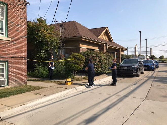 Michigan State Police say Dearborn police shot a man stabbing a woman Sunday, Sept. 27 2020.