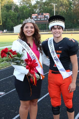 Ashley Mendoza and Philip Davies were crowned 2020 Gibsonburg Homecoming Queen and King.
