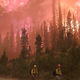 At 6:15 p.m. Sept. 24, Division Tango firefighters disengage and fall back to protect structures as high winds push the Mullen Fire burning in southeast Wyoming to the east.