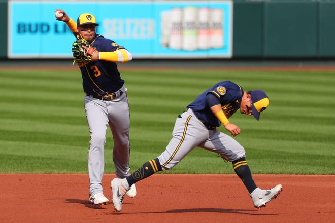 Orlando Arcia, left, has for the most part been the starter at short since his debut in 2016, but Luis Urias is younger and my offer more offensive punch.