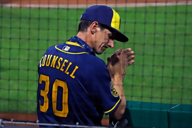 Manager Craig Counsell says the Brewers aren't backing down from the Dodgers despite Milwaukee making the playoffs with a 29-31 record.