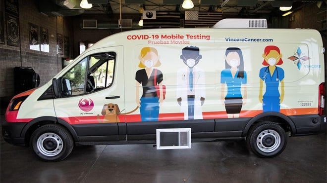 The Phoenix COVID-19 Mobile Testing Van travels to neighborhoods around the city.
