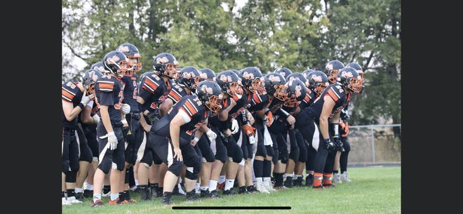 Dell Rapids gets ready to take the field against Tri-Valley on Friday, Sept. 25.