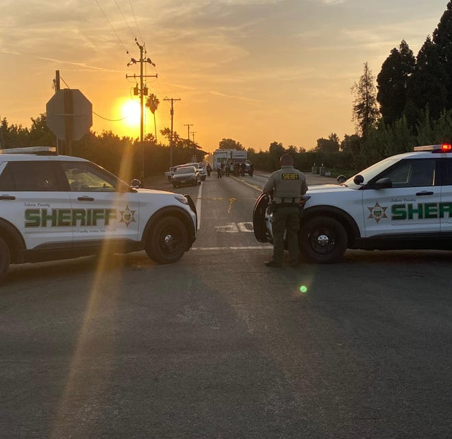 Tulare County Sheriff's Department investigates a deadly stabbing on Saturday, September 26, 2020.