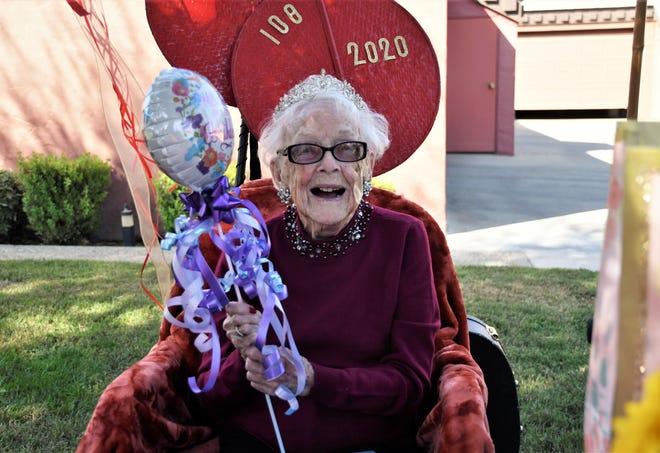Marjorie Brandon turned 108 on Saturday, September 26, 2020.