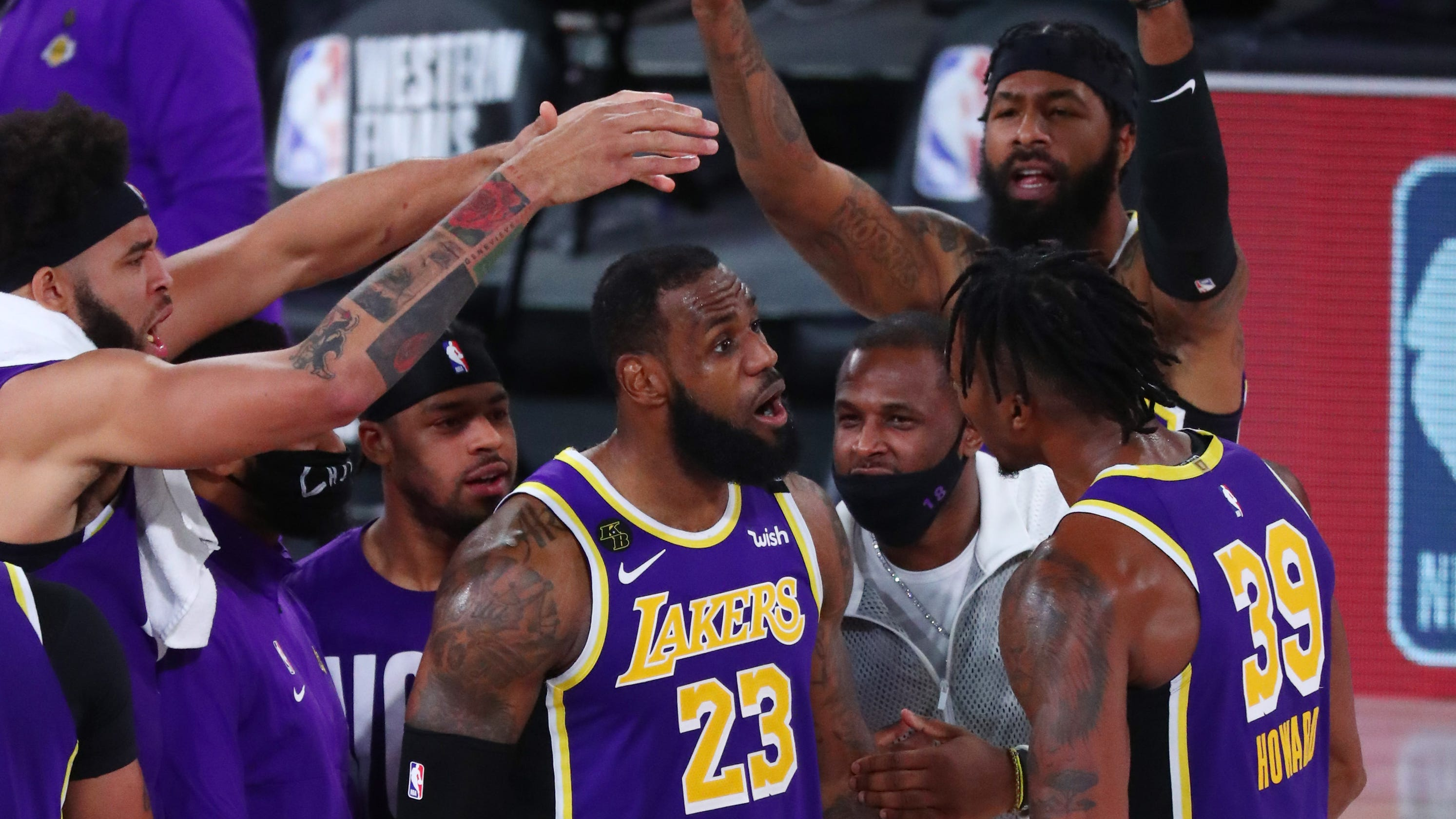 LeBron James records triple-double as Lakers close out Nuggets to advance to NBA Finals