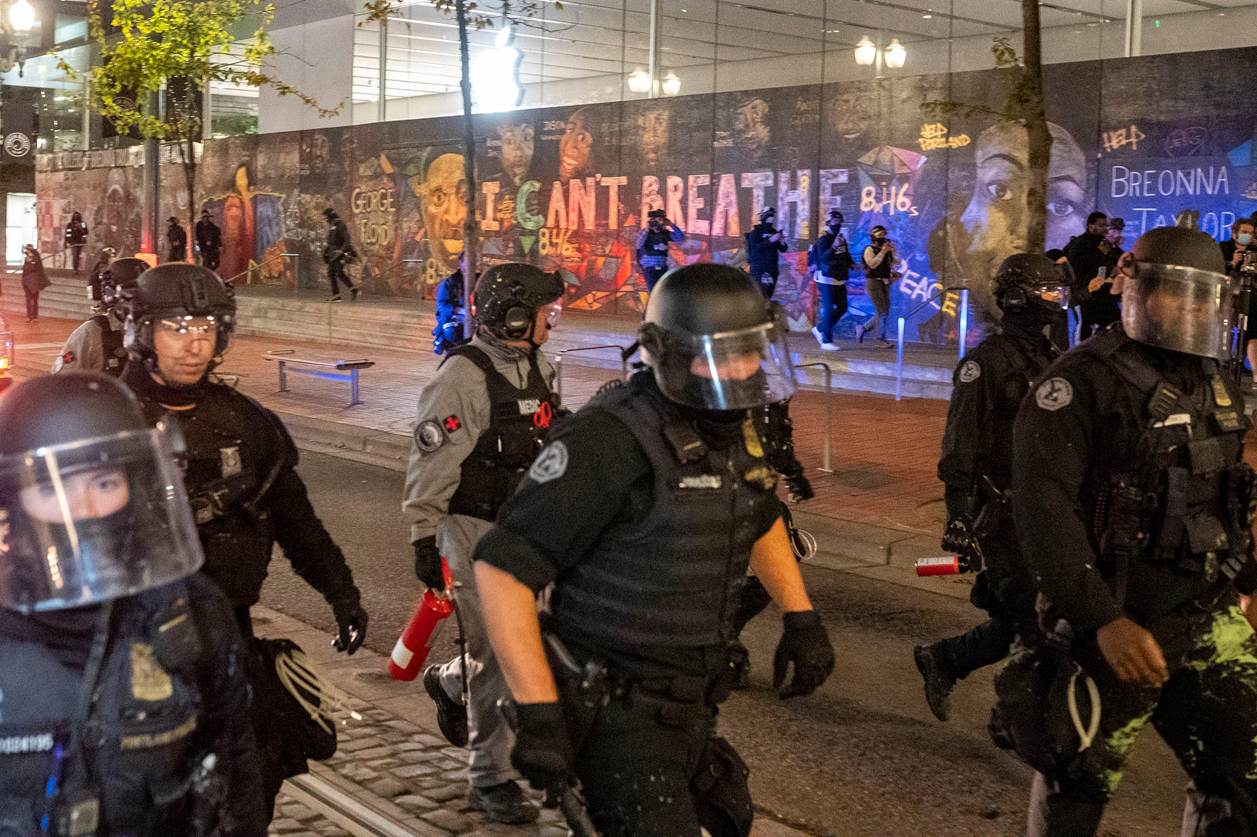 Portland Protests Prompt Tear Gas Rubber Bullets From Police