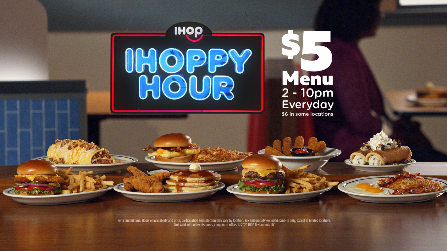 IHOP introduces 'IHOPPY Hour' value menu with $5 meals daily from 2-10 p.m.