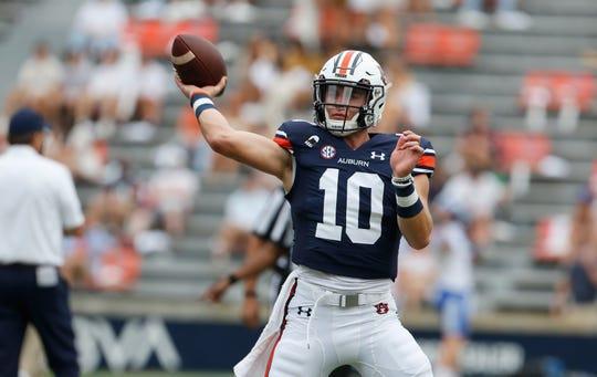 Auburn quarterback Bo Nix