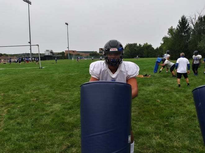 Central Bucks South defensive end Anthony Johnson is eager to play his senior season and hopes to keep playing football in college.
