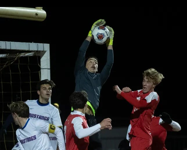 Triton senior goalkeeper Joe Bilgic