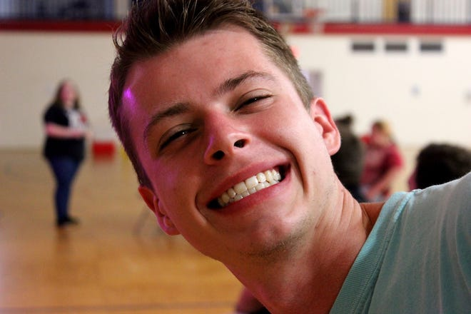 BCF student, Stephen Attaway, takes a moment to pose for a picture during BCM's socially distanced Trivia Night.