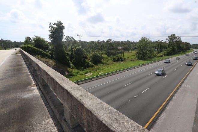 This view of Interstate 95, below, right, and Pioneer Trail, left, could change in future years as the Florida Department of Transportation is studying a new interchange in the Port Orange and New Smyrna Beach area.