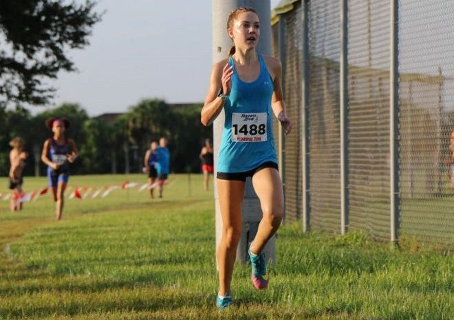 Spruce Creek sophomore Olivia Niewald posted a personal-best time of 19:04.10 during the Coach Joe McKinney Classic in New Smyrna Beach on Sept. 19.