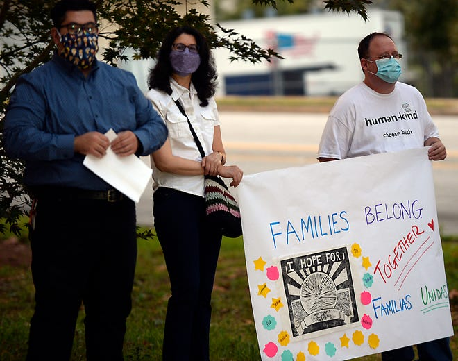 Alianza Spartanburg hosted  'Familias Unidas/Families Belong Together' event at the Unitarian Universalist Church in Spartanburg on Sept. 27, 2020.  Alianza Spartanburg is a social Network that supports the immigrant community of Spartanburg. The vigil was held to support immigrants who have been affected by family separation and detention.
